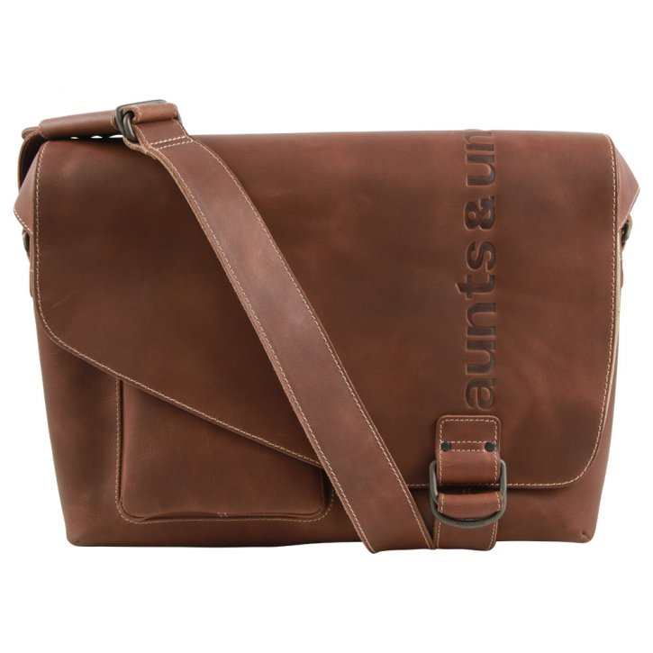 Aunts & Uncles BIG JUDD Laptoptasche vintage tan