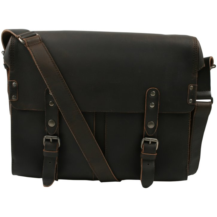 LEWIS Postbag L vintage brown