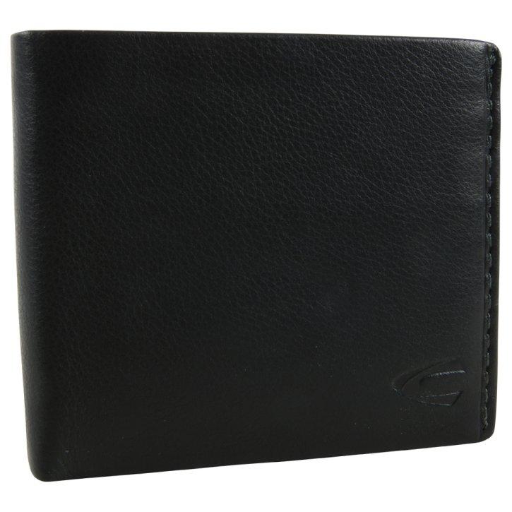 ATLANTA Börse Querformat schwarz mit RFID
