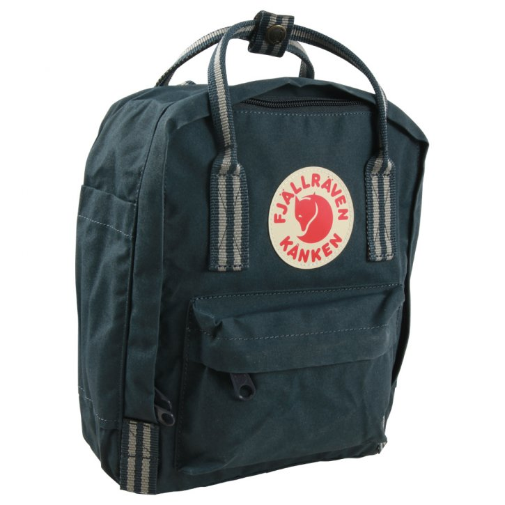 FJÄLLRÄVEN KANKEN MINI Rucksack navy-long stripes