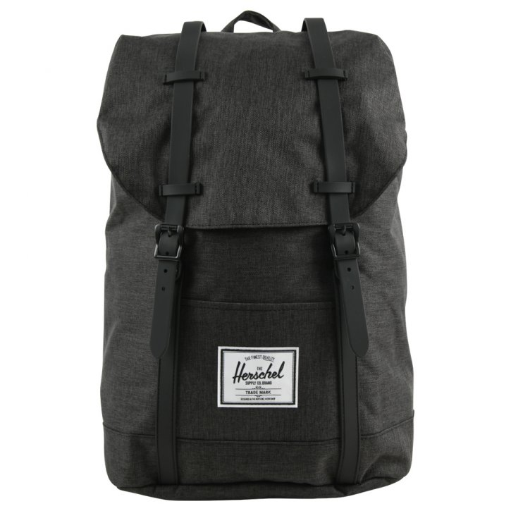 HERSCHEL RETREAT BLACK/crosshatch