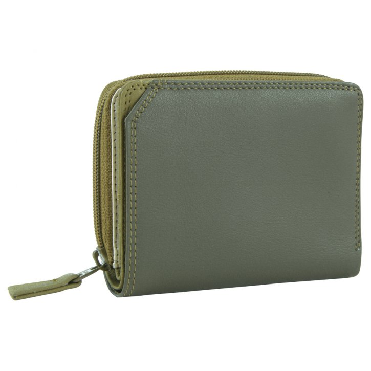 Small Wallet Zip Around Damenbörse olive