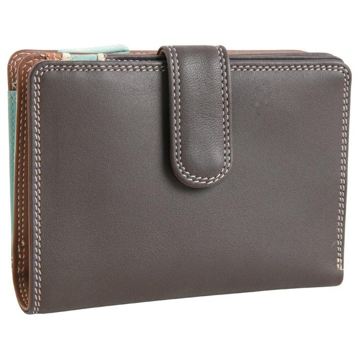 Medium 10 C/C mocha Wallet Zip Purse