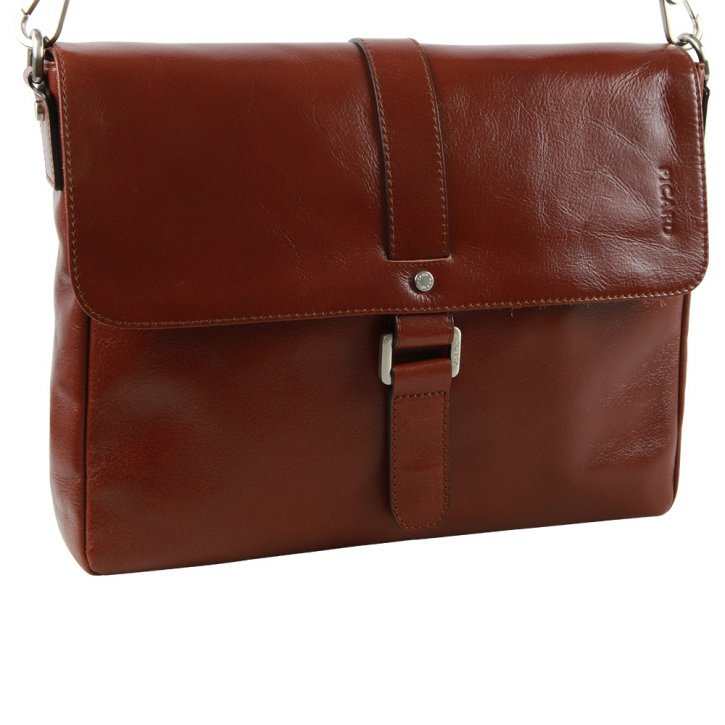 BUDDY kleine Business-Bag cognac