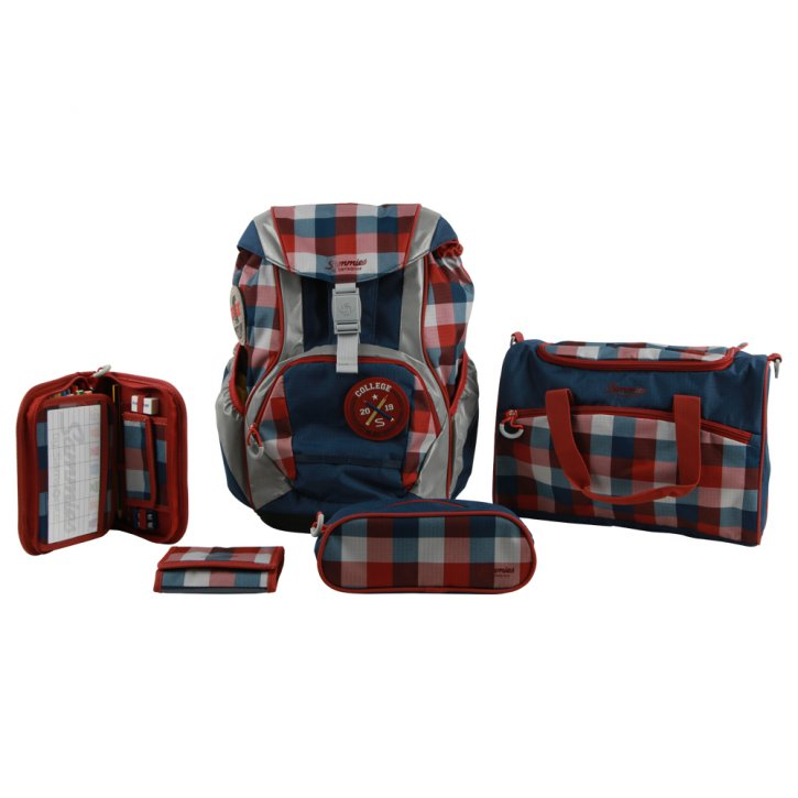 Sammies Ergofit Set 2.0 Schulranzen-Set classic checks SAM-111539-7427