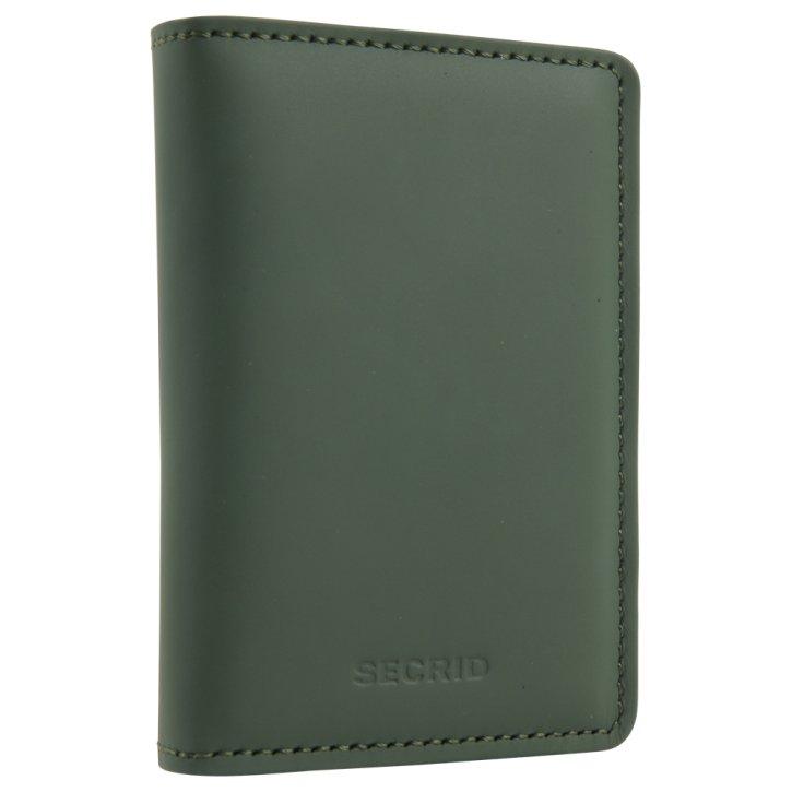 Slimwallet matte green-black