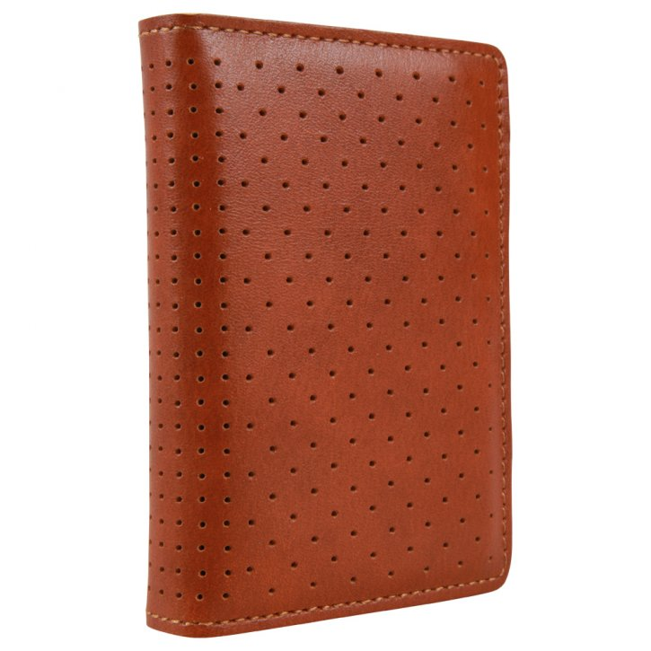 Slimwallet Perforated Cognac