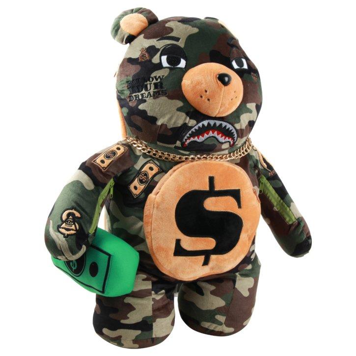 Sprayground Rucksack money bear camo