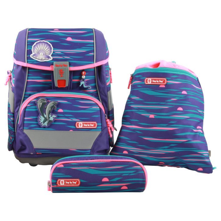 Step by Step 2in1 PLUS Shiny Dolphins Schulranzen-Set
