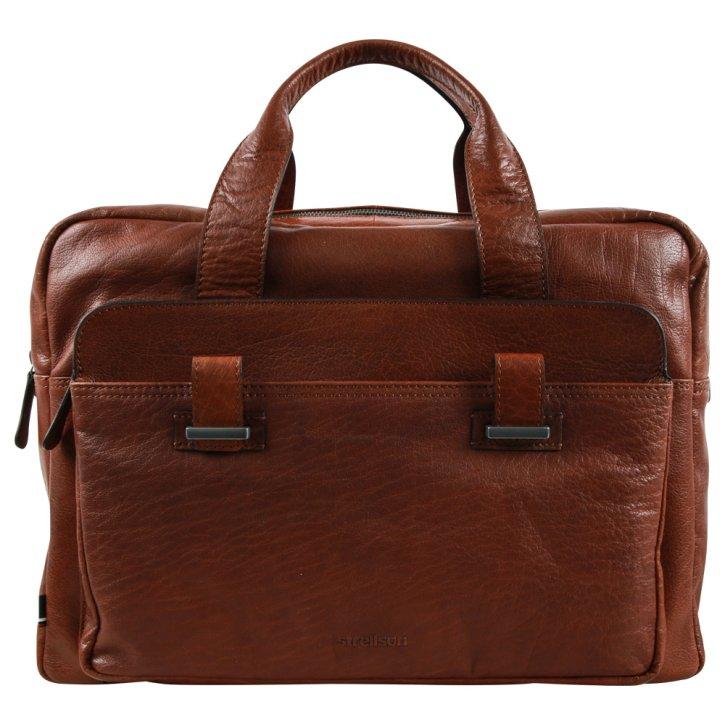 Sutton cognac briefbag