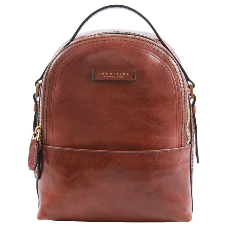 the bridge Rucksack 26 cm Rindleder braun