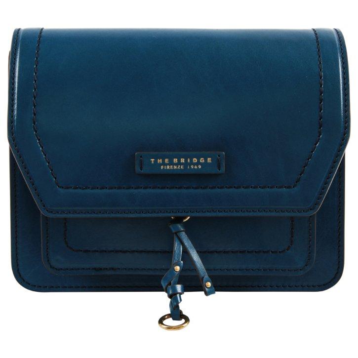 Damentasche blau Rindleder