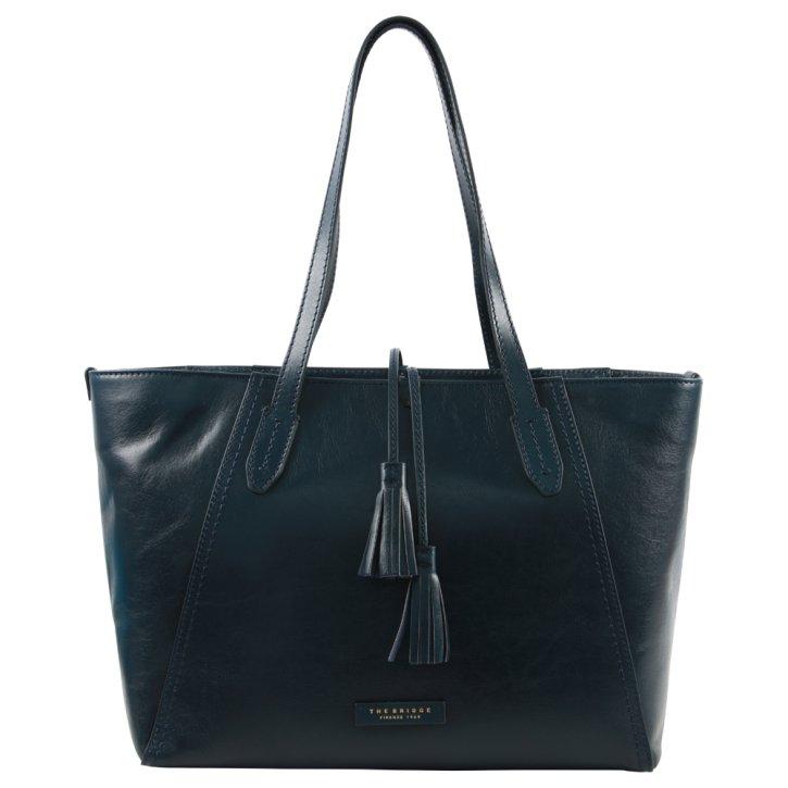 Damentasche Rindleder dunkelblau
