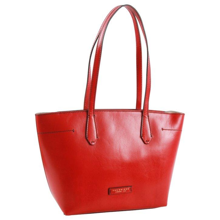 Shopping Bag rot Rindleder