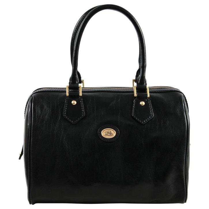 Bowling Bag schwarz 30cm  Rindleder