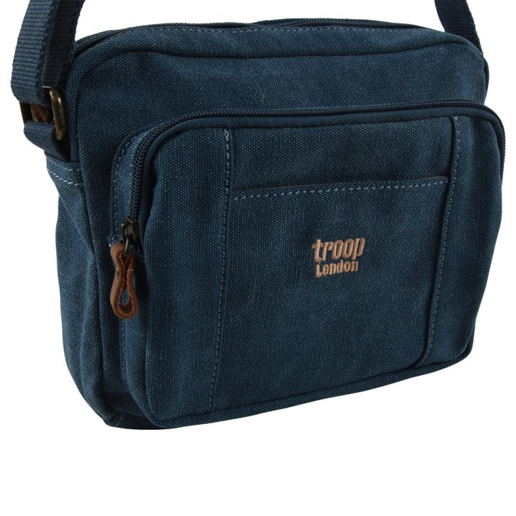 Troop London Across body bag Canvas blue