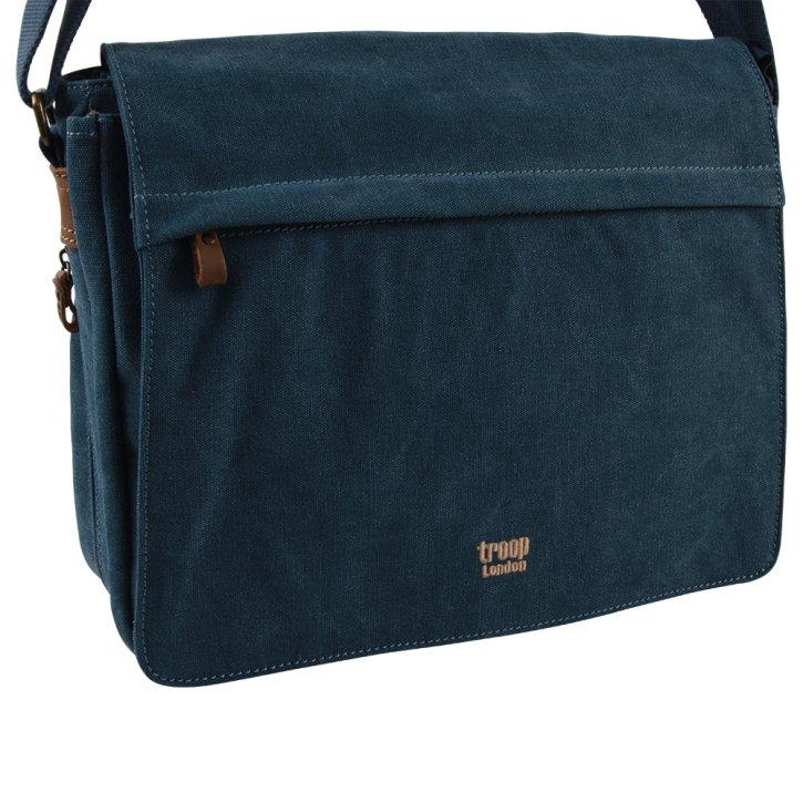 Laptop-Messengerbag Canvas blue