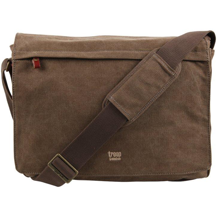 Troop London Messengerbag L Canvas brown