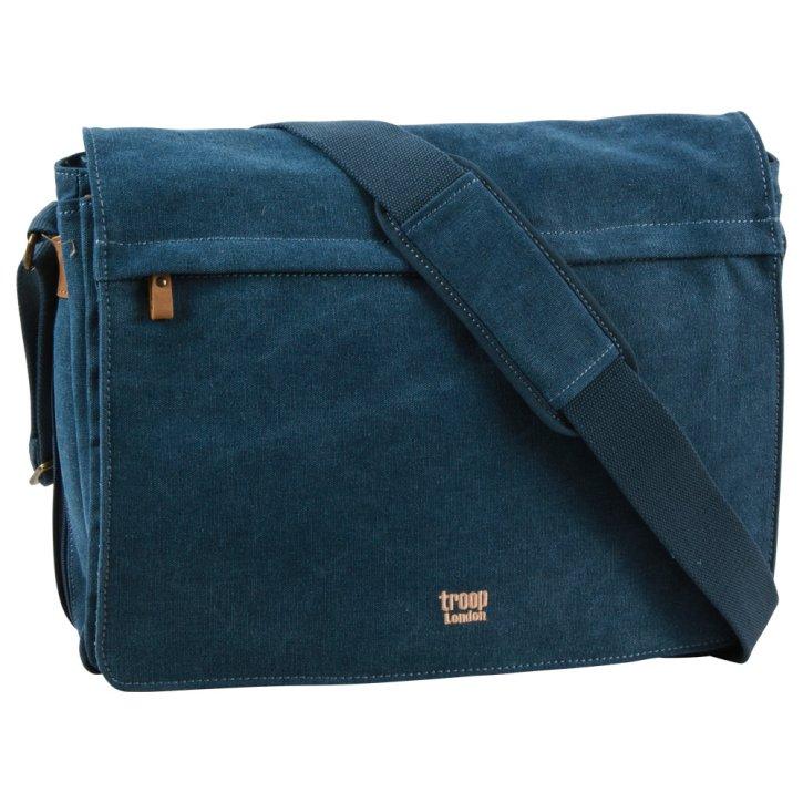 Troop London Messengerbag L Canvas blue