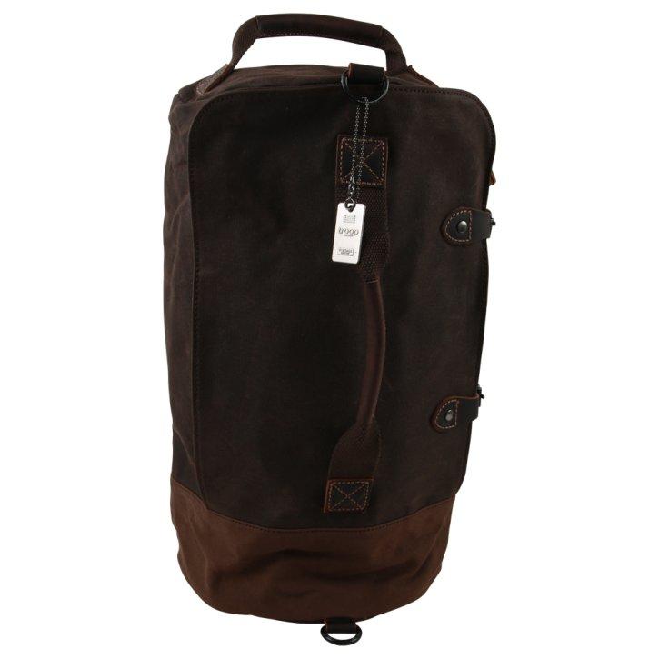 Weekender/Backpack  Canvas dark brown