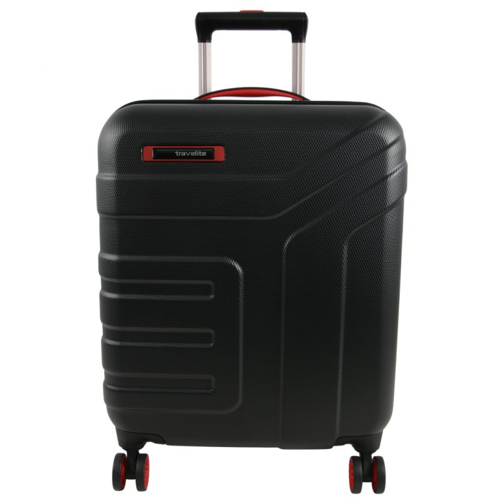 Travelite Vector 4w S Trolley schwarz