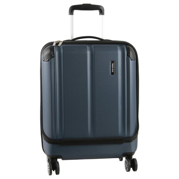 Travelite City 4w S marine Businesstrolley mit Vortasche