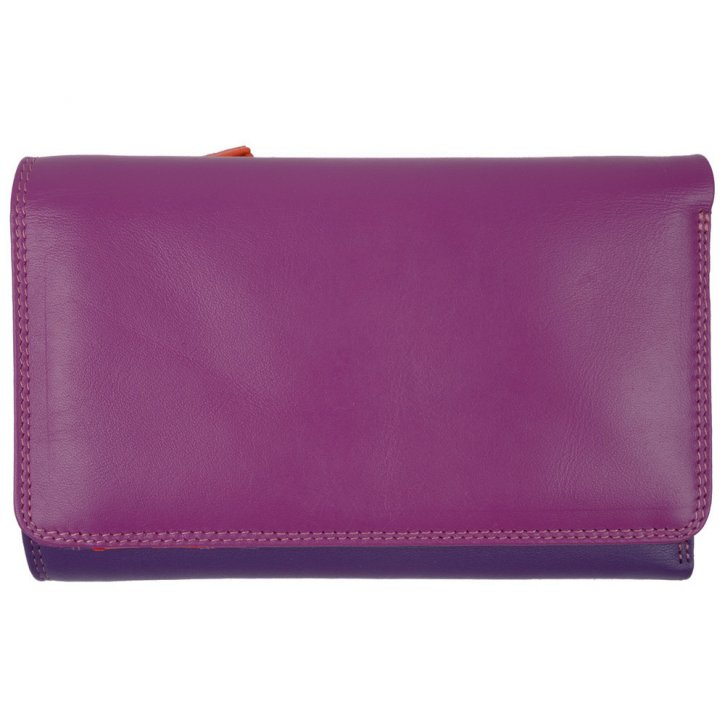 Medium Tri-fold Outer Zip Purse Sangria Multi