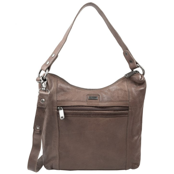 Spikes & Sparrow Schultertasche Pouch taupe