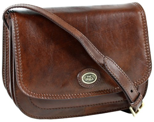 the bridge Handtasche Rindleder braun