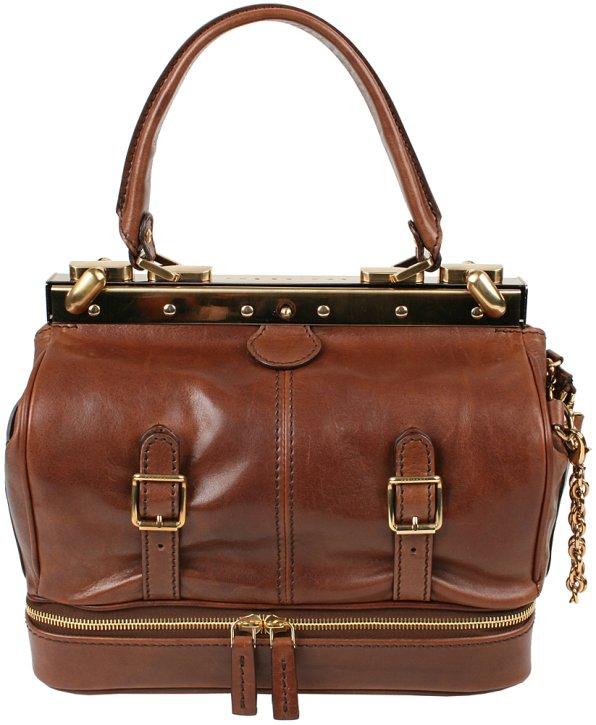 Twin Bag small Henkeltasche marrone
