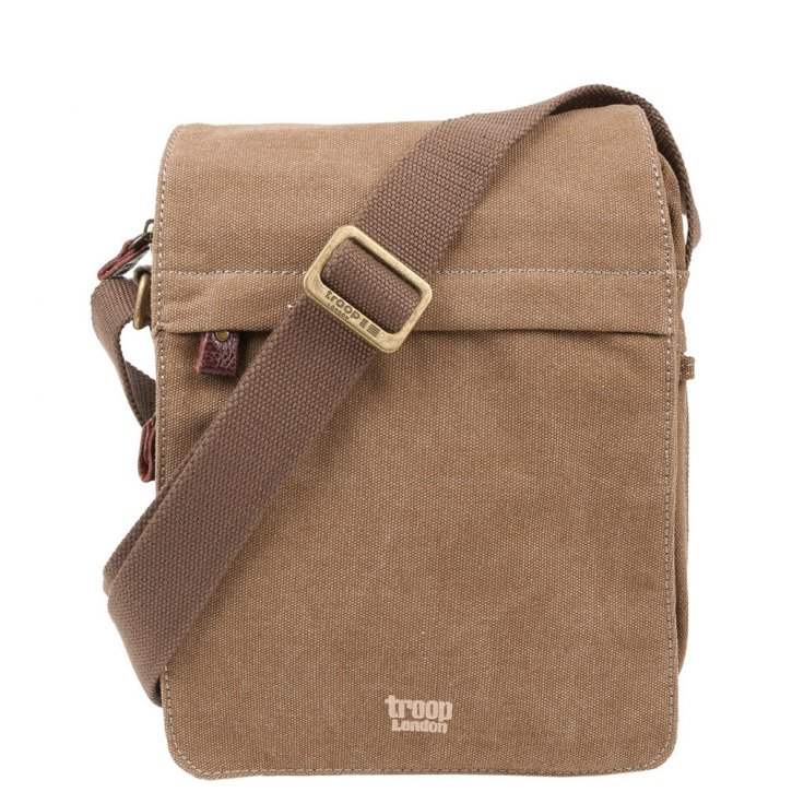 Troop London Across Body  Canvas brown