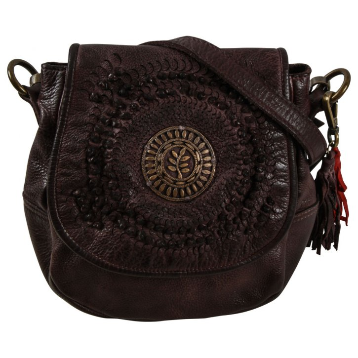SONNENFELSGASSE 3 saddle bag S  chocolat fondent