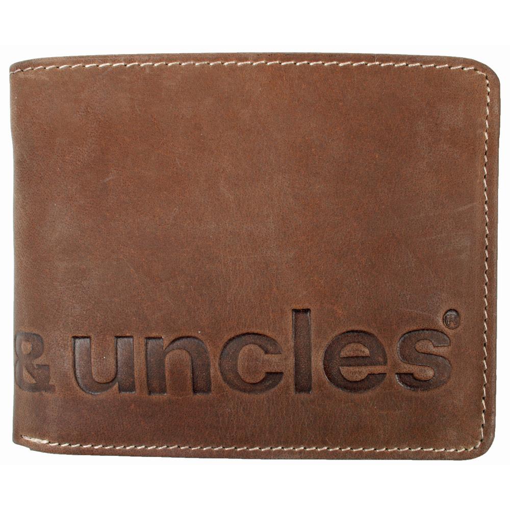 a few days away store classic styles Aunts & Uncles - MATT Geldbörse logo-vintage tan