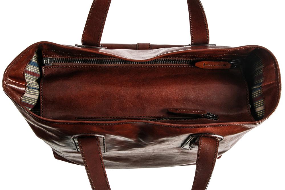 The Bridge Businessbag Rindleder Braun Online Bestellen