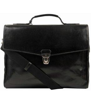 Laptoptasche schwarz Rindleder