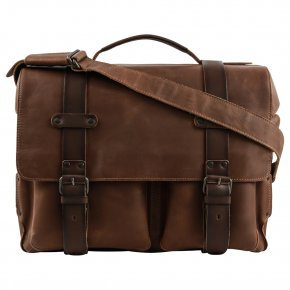 CLARKE große Laptoptasche vintage tan