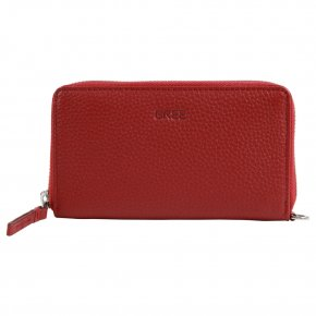 LIV 134 brick red M combi purse