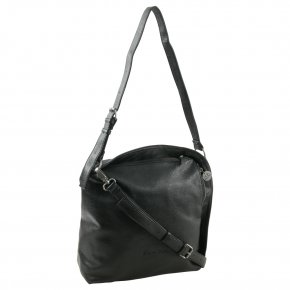Fritzi aus Preußen Gwen Hobo Bag medium super grain black
