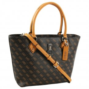 Guess JENSEN SOCIETY TOTE brown
