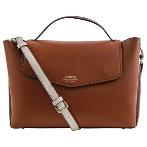 ELLA TOP cognac handle flap
