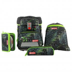 Step by Step SPACE Schulranzen-Set green tractor