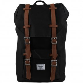 HERSCHEL LITTLE AMERICA MID Rucksack black/tan