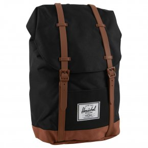 HERSCHEL RETREAT Rucksack black/saddle brown