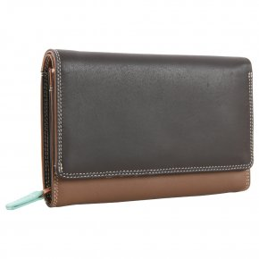 mywalit Medium Flap Zip Purse  Mocha