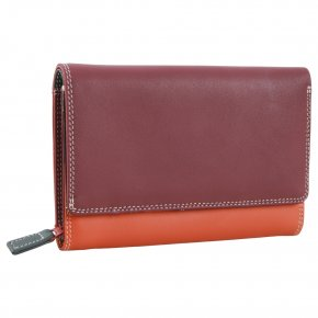 mywalit Medium Flap Zip Purse  Chianti