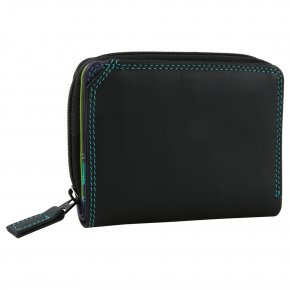 mywalit Small Wallet Zip Around  Black/Pace