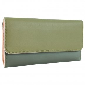 mywalit Tri-fold Zip Purse olive