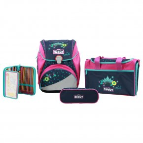 Scout ALPHA Set 4tlg Schulranzen cool princess