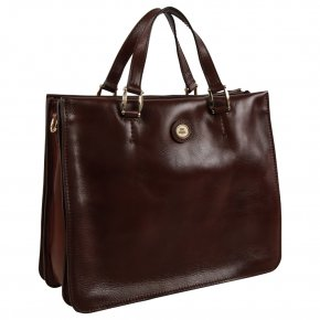 the bridge elegante Business Bag feinstes Leder marrone