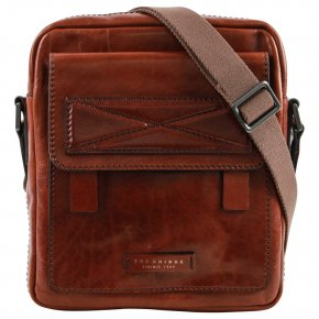 the bridge Messenger-Bag ruthenium/braun